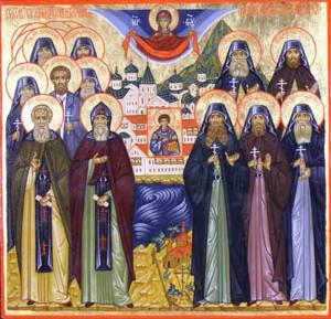Собор Святогорских новомучеников. Современная икона.